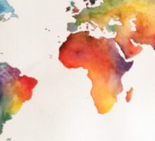 Watercolour world map Sticker