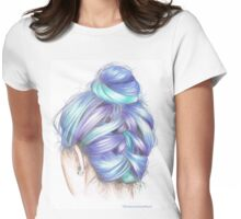 Coloured Hair Womens Fitted T-Shirt
