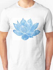 Blue Lotus Flower Unisex T-Shirt