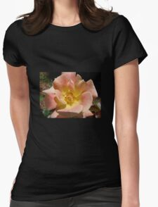 Pink/yellow Rose Womens Fitted T-Shirt