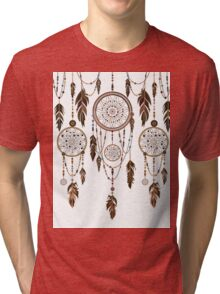 Native American Dreamcatcher Feathers Pattern Tri-blend T-Shirt