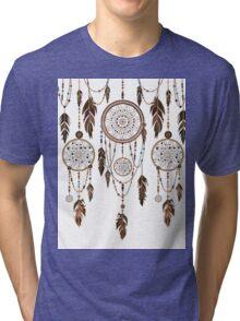Native American Dreamcatcher Feathers Pattern Tri-blend T-Shirt