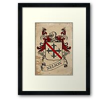 Nelson Coat of Arms (England) Framed Print