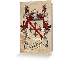 Nelson Coat of Arms (England) Greeting Card