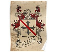 Nelson Coat of Arms (England) Poster
