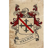 Nelson Coat of Arms (England) Photographic Print