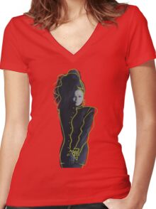 Janet Jackson - Control Women's Fitted V-Neck T-Shirt