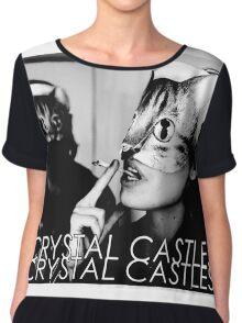 Crystal Castles Cat masks Chiffon Top