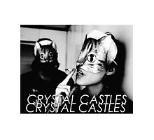 Crystal Castles Cat masks Photographic Print