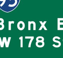 Cross Bronx Expressway, NYC Road Sign, USA Sticker