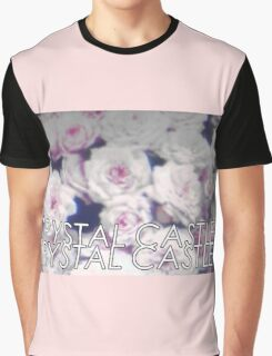 Crystal Castles washed out flowers Graphic T-Shirt