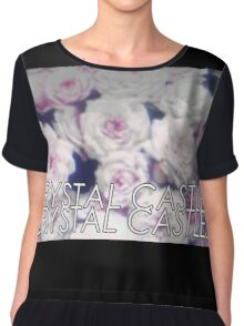 Crystal Castles washed out flowers Chiffon Top
