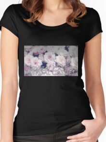Crystal Castles washed out flowers Women's Fitted Scoop T-Shirt