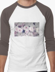 Crystal Castles washed out flowers Men's Baseball ¾ T-Shirt