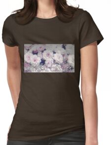 Crystal Castles washed out flowers Womens Fitted T-Shirt