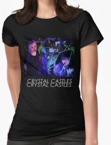 Crystal Castles Glitch Art Womens Fitted T-Shirt