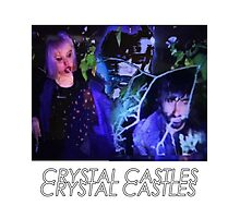 Crystal Castles Glitch Art Photographic Print