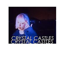 Crystal Castles Alice VHS filter Photographic Print