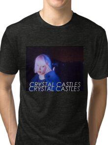 Crystal Castles Alice VHS filter Tri-blend T-Shirt