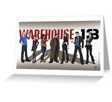 Warehouse 13 - Drawing - Cast Greeting Card