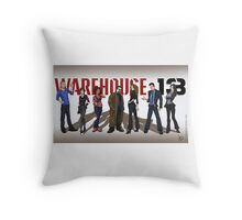 Warehouse 13 - Drawing - Cast Throw Pillow