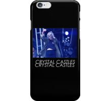 Crystal Castles Alice Performing VHS Filter iPhone Case/Skin