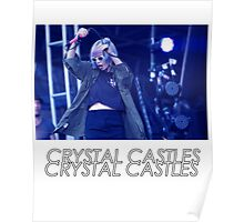 Crystal Castles Alice Performing VHS Filter Poster