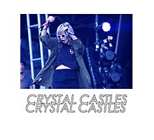 Crystal Castles Alice Performing VHS Filter Photographic Print