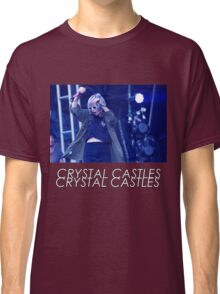 Crystal Castles Alice Performing VHS Filter Classic T-Shirt