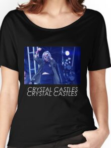 Crystal Castles Alice Performing VHS Filter Women's Relaxed Fit T-Shirt