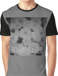 Crystal Castles Washed out flowers black and white Graphic T-Shirt