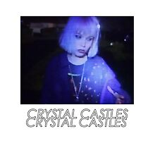 Crystal Castles Alice VHS filter coloradjust 3 Photographic Print