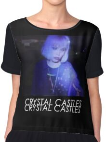 Crystal Castles Alice VHS filter coloradjust 3 Chiffon Top