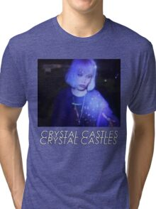 Crystal Castles Alice VHS filter coloradjust 3 Tri-blend T-Shirt