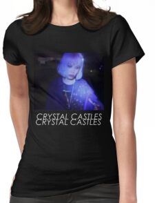 Crystal Castles Alice VHS filter coloradjust 3 Womens Fitted T-Shirt