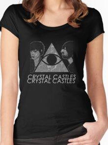 Crystal Castles Vietnam Concept black and white 5 Women's Fitted Scoop T-Shirt