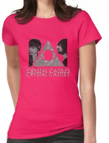 Crystal Castles Vietnam Concept black and white 5 Womens Fitted T-Shirt