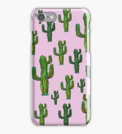 Pink Cactus Print iPhone Case/Skin