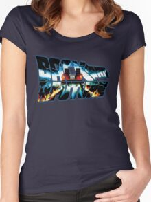 Back to the Future-Time travel Women's Fitted Scoop T-Shirt