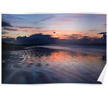 A Spring Sunset on Benone Strand Poster