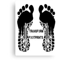 Transformers Footprints  Canvas Print