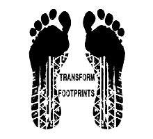 Transformers Footprints  Photographic Print