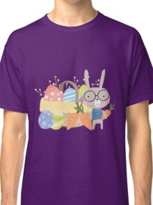 Easter Bunny With Basket of Colored Eggs Classic T-Shirt