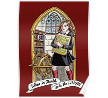 Hermione Bookworm Poster