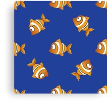 pattern with fishes Canvas Print
