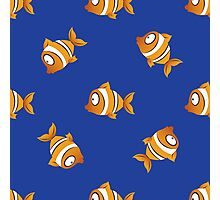 pattern with fishes Photographic Print