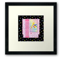 Cutie Quest Cartridge Framed Print