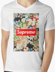 supreme  Mens V-Neck T-Shirt