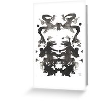 Running Jesters ink blot  Greeting Card
