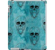 Terrible frightening seamless pattern with skull iPad Case/Skin